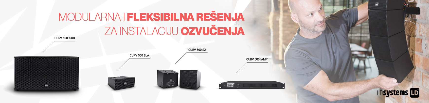 CURV 500® instalacioni zvučnici